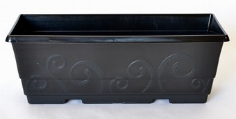 Black 40cm Trough Planters Collection > - Black Collection