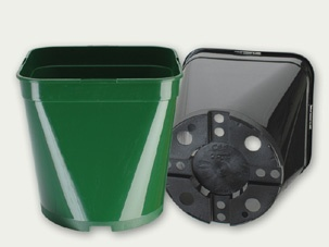 Square Round Pots (Various Sizes) Growers Collection > - Container Pots