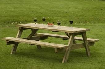 A Frame picnic table - 1400 Length Garden Furniture