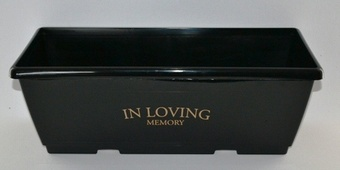 Black 40cm Trough (In Loving Memory) Planters Collection > - Black Collection