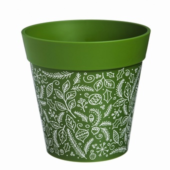 Holiday Dark Green Planter Planters Collection > - Hum Collection