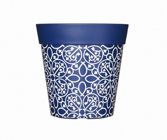 Blue Lattice Planter Planters Collection > - Hum Collection