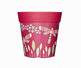 Pink Dragonflies Planter Planters Collection > - Hum Collection
