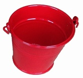 Small Red Metal Bucket