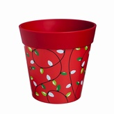 Red Seasonal Lights Planter