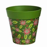 Dark Green Poinsettia Planter