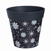 Grey Snowflake Planter