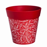 Holiday Red Planter