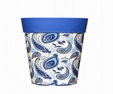 Blue Paisley Planter