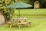 Delux 8 Seater Round picnic table